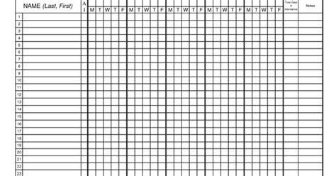 Classroom Attendance Sheets Class Attendance Sheets Excel Class Attendance Sheets Cheerleading Attendance Sheet Template
