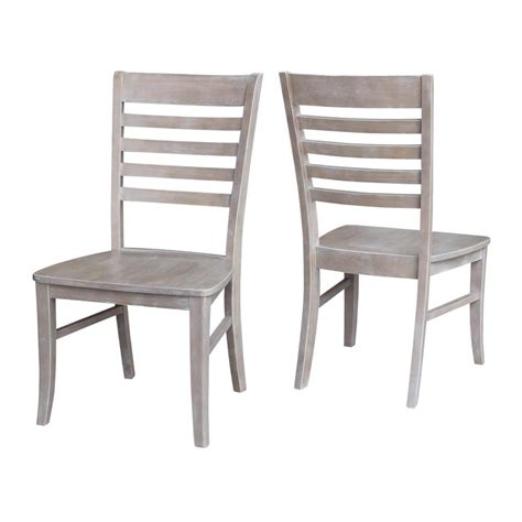 Gray Wood Dining Chairs International Concepts Milan Weathered Gray Wood Dining Chair Set Of 2 C09 310p The Home Depot