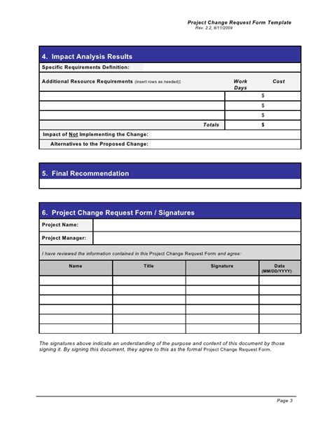 project request form template word change request form template