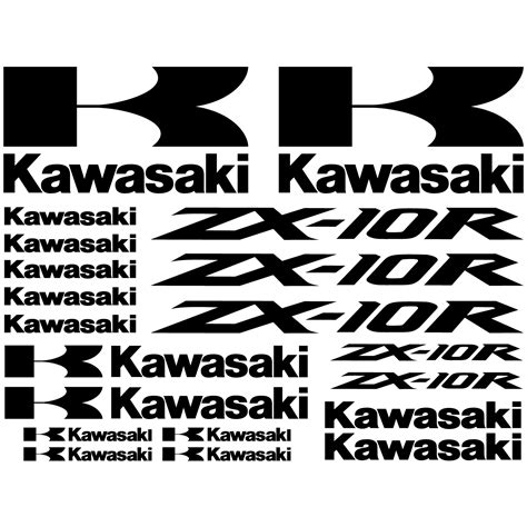 Kawasaki Zx10r Aufkleber Set wandtattoos folies kawasaki zx 10r aufkleber set