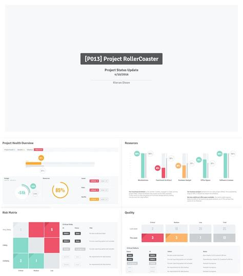 powerpoint project dashboard template shyam project status update powerpoint template dashboard