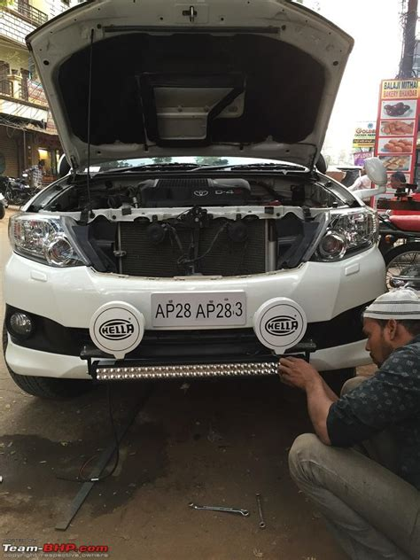 Led Light Bar India Got Fortune D White Toyota Fortuner Page 12 Team Bhp