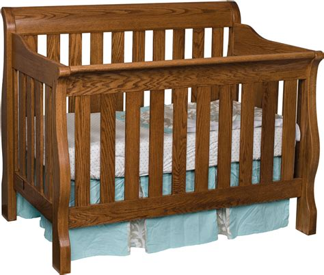 Sleigh Baby Crib Traditional Sleigh Crib Ohio Hardwood Furniture