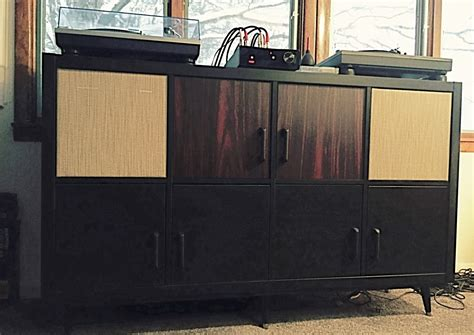 ikea stereo cabinet hack ikea kallax to mid century modern hifi console ikea