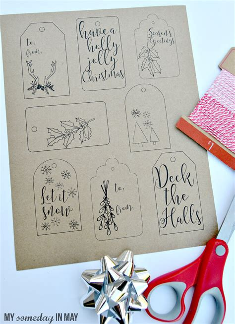 christmas gift tags printable decor have yourself 25 merry little printables last minute