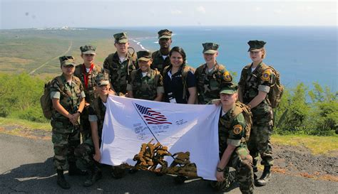 by laws young marines ten young marines travel to guam and iwo jima for the