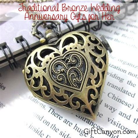 traditional 8th wedding anniversary gifts for bronze gift