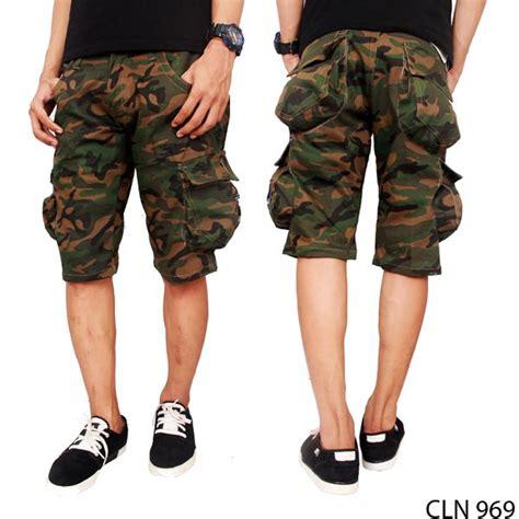 Celana Cargo Pendek Katun celana cargo army pendek katun green cln 969 gudang fashion