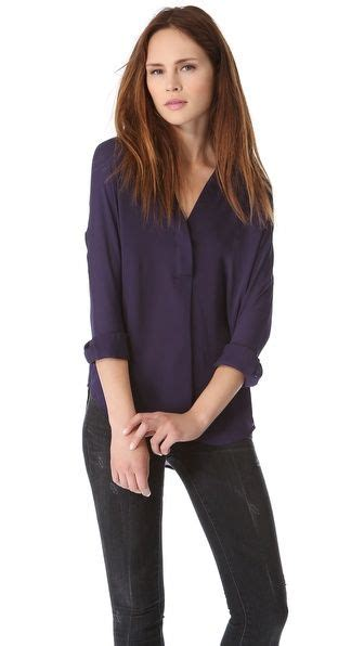 Half Placket Top vince half placket top pretty things to wear