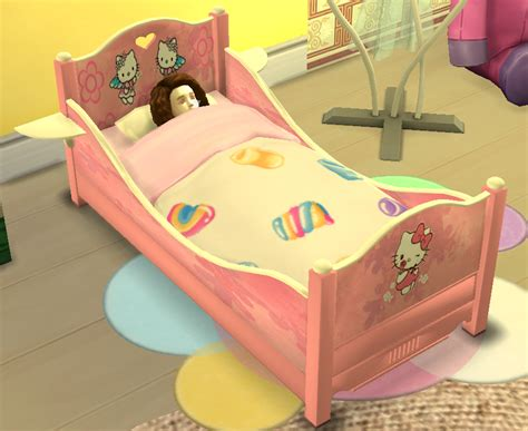 the sims 4 bed cc sims 4 custom content download classic toddler bed