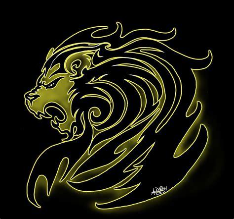 wallpaper tribal gold tribal golden lion by moonlightdarkangel on deviantart