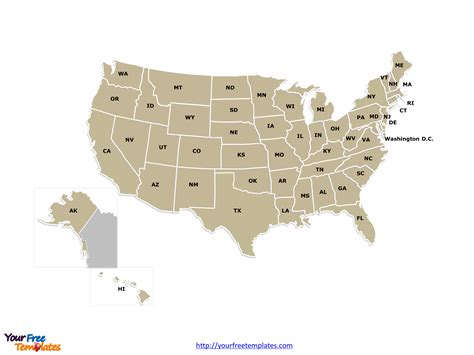 united states map powerpoint template free usa powerpoint map free powerpoint templates