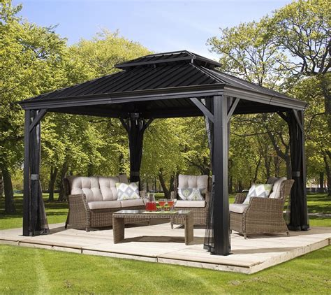 Pavillon Alu by Sojag Aluminium Pavillon Gazebo Messina 10x12 Inkl