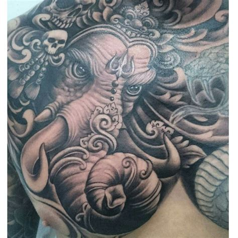 hindu elephant tattoo designs angry ganesha tattoos ganesha