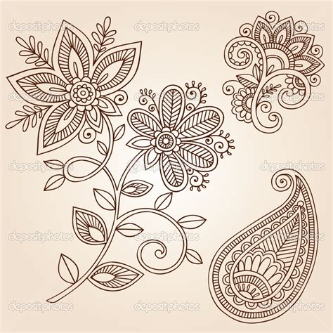 henna pattern vector henna patterns henna flowers and paisley doodles vector