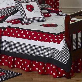 sweet jojo designs  ladybug collection pc toddler bedding set baby baby bedding