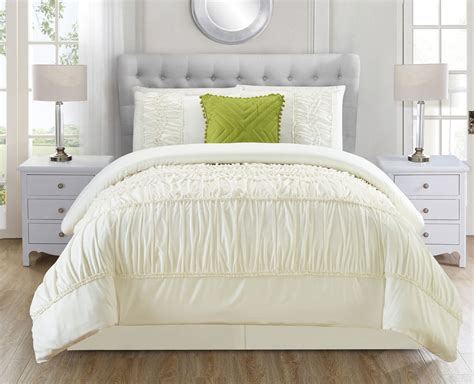 Ivory Bedding Set by 5 Jervis Ivory Comforter Set Ebay