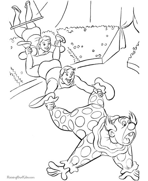 circus color pages az coloring pages