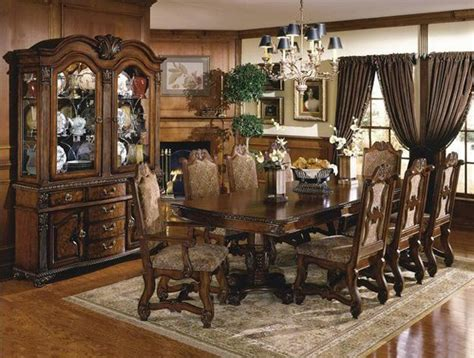 victorian dining room sets gfd neo renaissance 9 piece traditional dining room set