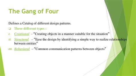 builder pattern gang of four design pattern presentation