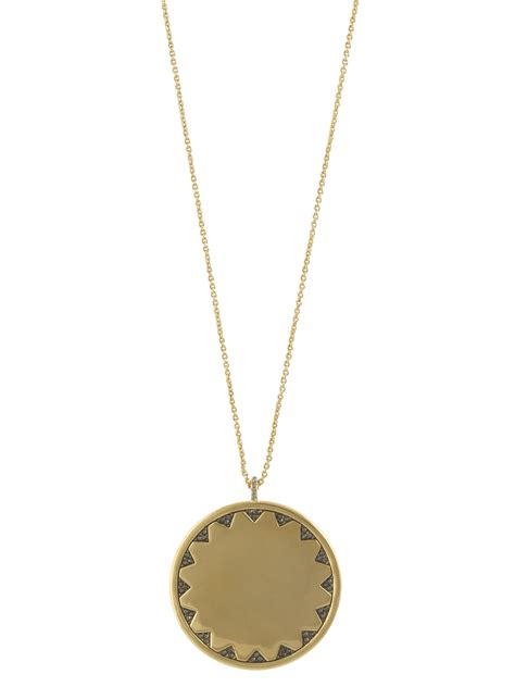 house of harlow 1960 incan sun coin large pendant necklace