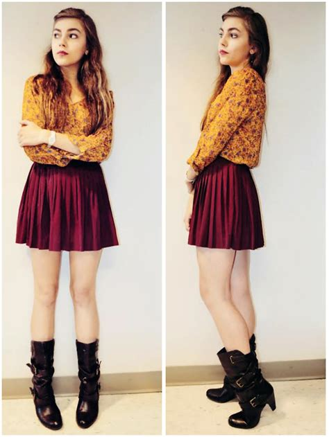 fiona isabelle h m maroon pleated skirt september 25th