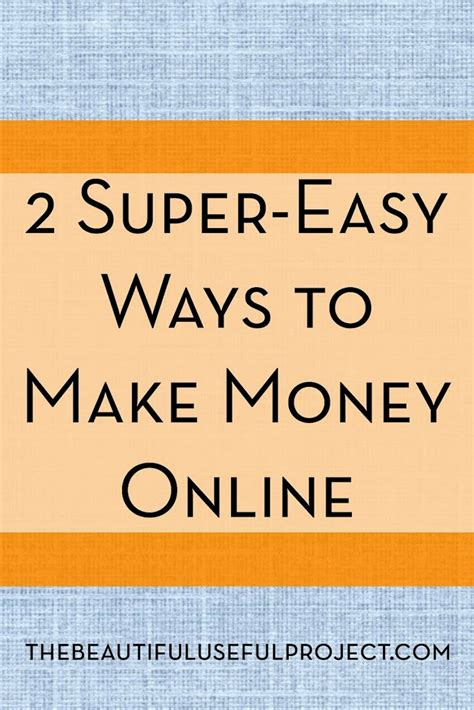 Make Money Online Easy - two super easy ways to make money online saverchic