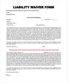 waiver of liability form template doc 12751650 liability document product liability