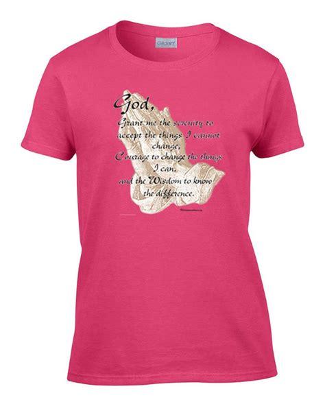 Pray Tshirt 1 christian serenity prayer inspirational s t