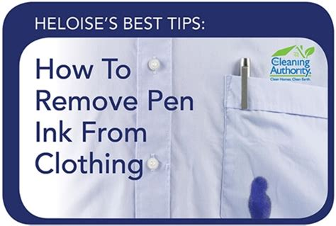 Remove Pen Ink From by Our Favorite Hints From Heloise