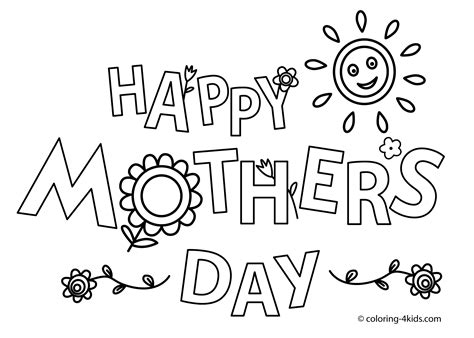 happy mothers day coloring pages and print for free