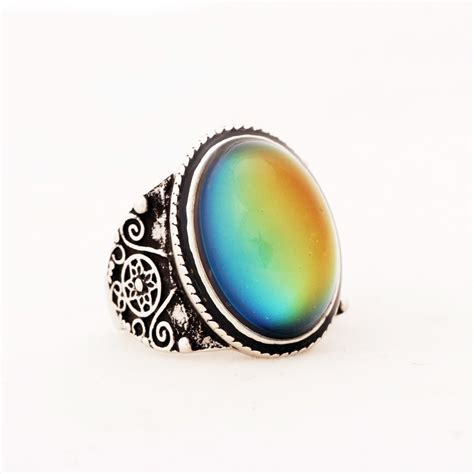 vintage oval mood ring magick jewelry