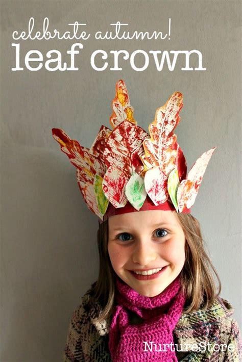 crown craft for leaf crown easy autumn craft for preschool nurturestore