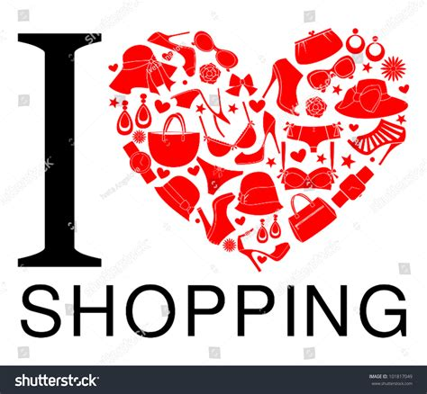 image gallery i love shopping icons i love shopping icon the heart is made from different