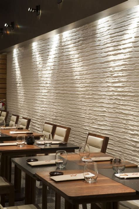 wall treatments restaurant with unique white embossed wall treatment