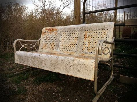 vintage metal glider bench available to paint retro metal former glider bench painted