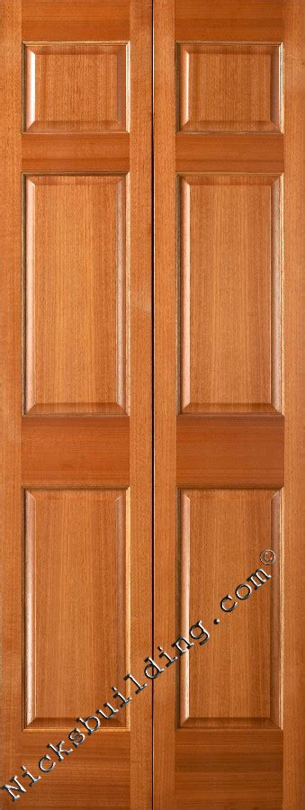 Wood Folding Doors Interior Interior Doors Mahogany Six Panel Doors