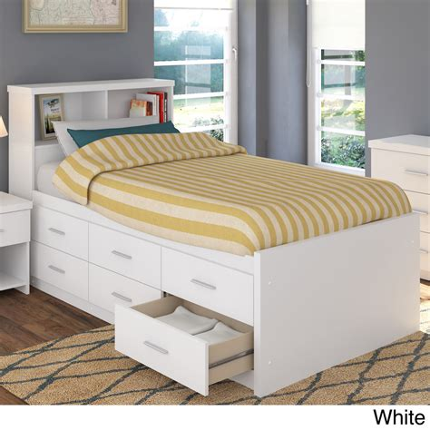 twin bed with storage and headboard sonax 2 piece single twin captain s storage bed set with