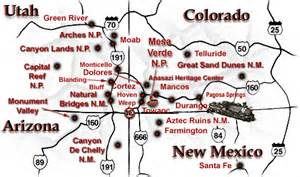 four corners colorado map mesa verde national park is located in the of the