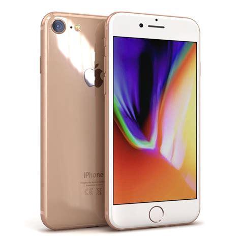 3 iphone models apple iphone 8 gold 3d model turbosquid 1217893