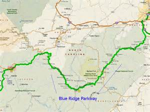 blue ridge parkway map carolina