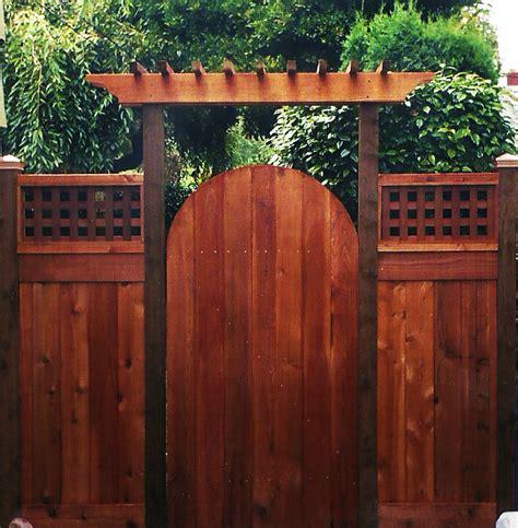 arbor over gate ideas cedar fence gates ideas for the