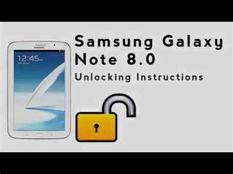 how to unlock the samsung galaxy note 8 0 using an unlock code