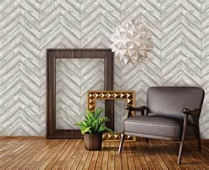 herringbone textured ash removable wallpaper by tempaper