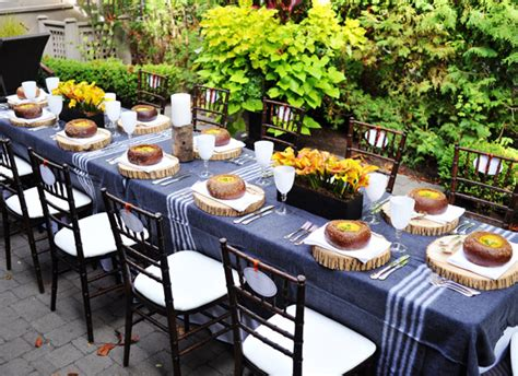 Food Network Table Linens - thanksgiving dinner party ideas