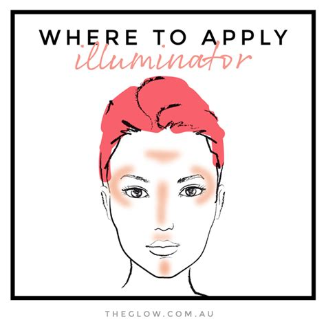 where to makeup how to where to apply illuminator