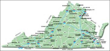 Cities In Virginia Map by Major Cities In Virginia For Pinterest