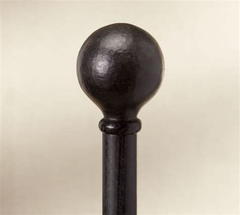 cast iron drape rod cast iron ball finial drape rod pottery barn