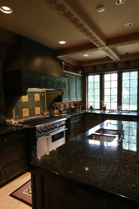 masculine kitchen w ceiling details