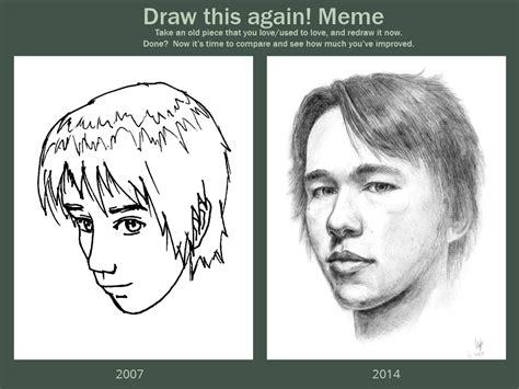 Portrait Meme - draw this again meme self portrait by hunternif on